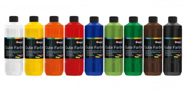 Gute Farbe, je 500 ml, 9 Farben Set
