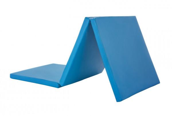 Yogamatte 180x60x5cm blau - klappbar