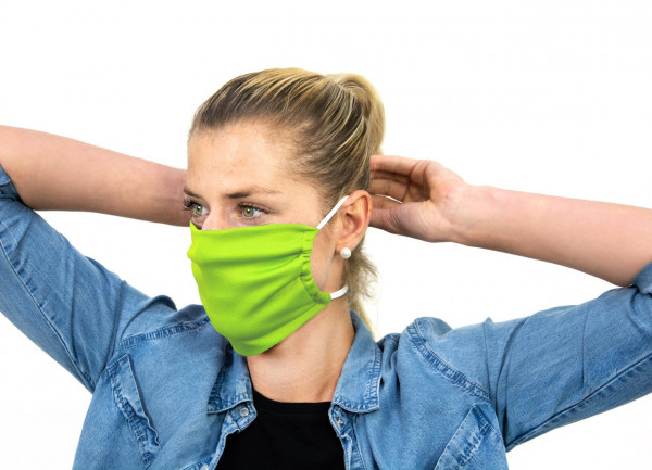 Mund-Nasen-Schutz grün 24er