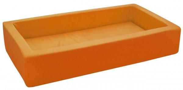 Schaumstoffbett klein orange