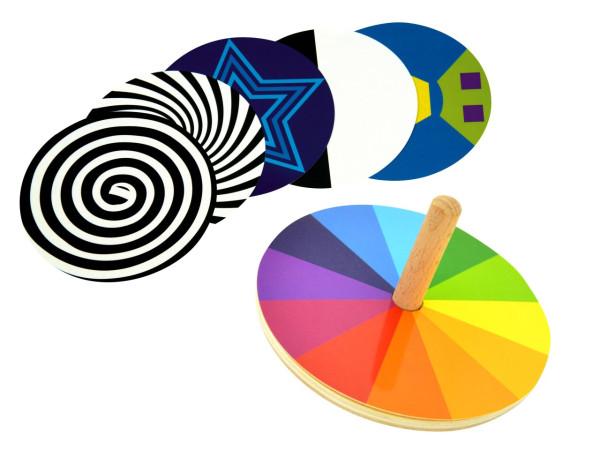 Kreisel Faszination Farbe 9 Teile