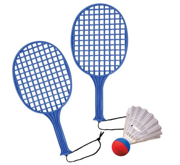 2 Tennisschläger+Federball riesengroß